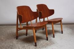 Ib Kofod Larsen Pair of Danish Sculptural Shell Chairs by Ib Kofod Larsen in Teak and Beech - 877626