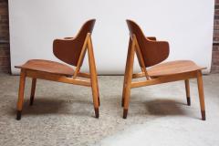 Ib Kofod Larsen Pair of Danish Sculptural Shell Chairs by Ib Kofod Larsen in Teak and Beech - 877630