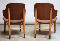 Ib Kofod Larsen Pair of Danish Sculptural Shell Chairs by Ib Kofod Larsen in Teak and Beech - 877633