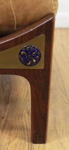 Ib Kofod Larsen Pair of Ib Kofod Larsen Wenge Lounge Chairs for the Megiddo Collection - 673729