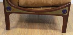 Ib Kofod Larsen Pair of Ib Kofod Larsen Wenge Lounge Chairs for the Megiddo Collection - 673730