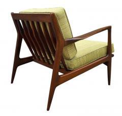 Ib Kofod Larsen Pair of Mid Century Danish Modern IB Kofod Larsen Lounge Chairs in Walnut - 2059034