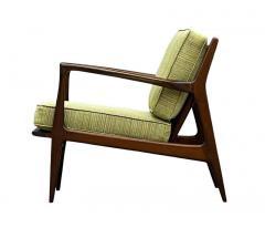 Ib Kofod Larsen Pair of Mid Century Danish Modern IB Kofod Larsen Lounge Chairs in Walnut - 2059035