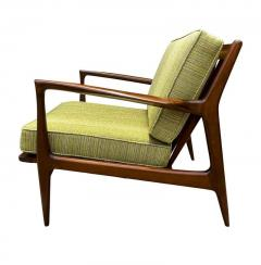 Ib Kofod Larsen Pair of Mid Century Danish Modern IB Kofod Larsen Lounge Chairs in Walnut - 2059036