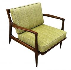 Ib Kofod Larsen Pair of Mid Century Danish Modern IB Kofod Larsen Lounge Chairs in Walnut - 2059039