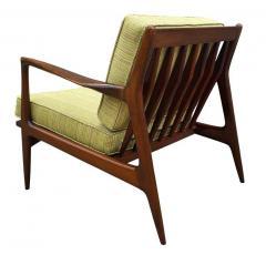 Ib Kofod Larsen Pair of Mid Century Danish Modern IB Kofod Larsen Lounge Chairs in Walnut - 2059041