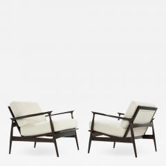 Ib Kofod Larsen Scandinavian Modern Lounge Chairs by Ib Kofod Larsen C 1950s - 1584855