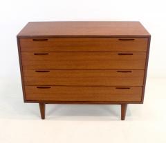 Ib Kofod Larsen Scandinavian Modern Teak Four Drawer Dresser by Ib Kofod Larsen - 1739998