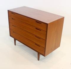 Ib Kofod Larsen Scandinavian Modern Teak Four Drawer Dresser by Ib Kofod Larsen - 1739999