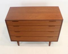 Ib Kofod Larsen Scandinavian Modern Teak Four Drawer Dresser by Ib Kofod Larsen - 1740001