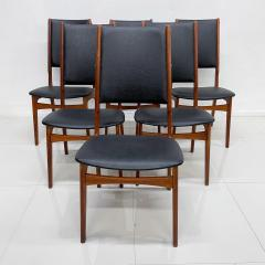 Ib Kofod Larsen Scandinavian Set of Six Teak Dining Chairs Kofod Larsen Denmark 1960s Modern - 1995959