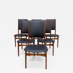Ib Kofod Larsen Scandinavian Set of Six Teak Dining Chairs Kofod Larsen Denmark 1960s Modern - 1997364