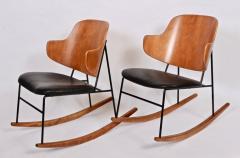 Ib Kofod Larsen Single Ib Kofod Larsen for Selig Penguin Rocking Chair 1950s - 1572239