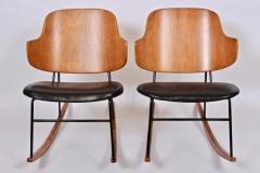Ib Kofod Larsen Single Ib Kofod Larsen for Selig Penguin Rocking Chair 1950s - 1572247