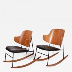 Ib Kofod Larsen Single Ib Kofod Larsen for Selig Penguin Rocking Chair 1950s - 1574079