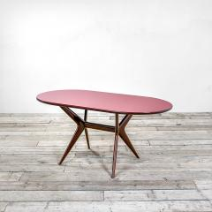 Ico Parisi 20th Century Ico Parisi Table in wood and glass produced by Fratelly Rizzi - 2032086