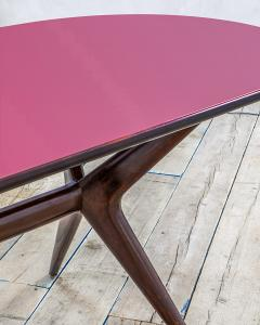 Ico Parisi 20th Century Ico Parisi Table in wood and glass produced by Fratelly Rizzi - 2032087