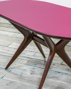 Ico Parisi 20th Century Ico Parisi Table in wood and glass produced by Fratelly Rizzi - 2032088