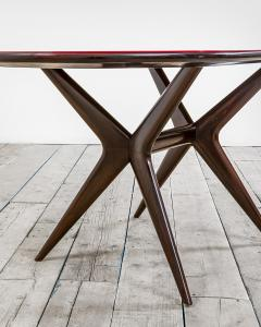 Ico Parisi 20th Century Ico Parisi Table in wood and glass produced by Fratelly Rizzi - 2032089