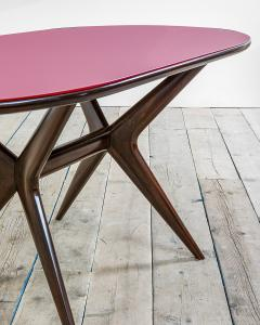 Ico Parisi 20th Century Ico Parisi Table in wood and glass produced by Fratelly Rizzi - 2032090