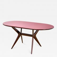 Ico Parisi 20th Century Ico Parisi Table in wood and glass produced by Fratelly Rizzi - 2033993