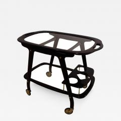 Ico Parisi A Mid Century Bar Cart in Mahogany and Glass by Ico Parisi