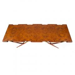 Ico Parisi Burl Walnut and Brass 1950s Coffee Table by Ico Parisi for Singer and Sons - 480833