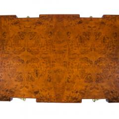 Ico Parisi Burl Walnut and Brass 1950s Coffee Table by Ico Parisi for Singer and Sons - 480835