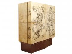 Ico Parisi Cabinet Bar in parchment and wood by Ico Parisi for Daghia circa 1940 - 969792