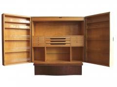 Ico Parisi Cabinet Bar in parchment and wood by Ico Parisi for Daghia circa 1940 - 969802