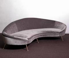 Ico Parisi Huge Italian Velvet Sofa in the Manner of Ico Parisi - 546677