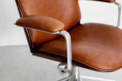 Ico Parisi ICO PARISI OFFICE CHAIR BROWN LEATHER - 1412945