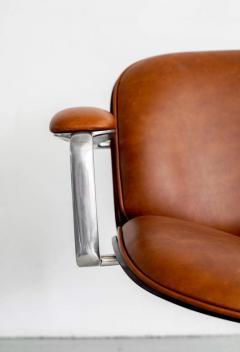 Ico Parisi ICO PARISI OFFICE CHAIR BROWN LEATHER - 1412948