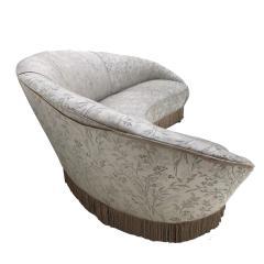Ico Parisi Ico Parisi Curved Pattern Fabric Sofa Italy 1958 - 845622