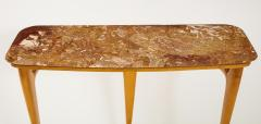 Ico Parisi Ico Parisi Maple Wood and Marble Console Table - 1813532