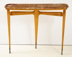 Ico Parisi Ico Parisi Maple Wood and Marble Console Table - 1813534