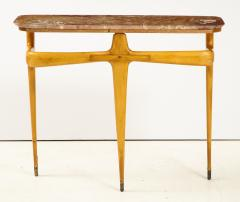 Ico Parisi Ico Parisi Maple Wood and Marble Console Table - 1813538