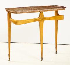 Ico Parisi Ico Parisi Maple Wood and Marble Console Table - 1813540