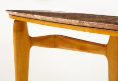 Ico Parisi Ico Parisi Maple Wood and Marble Console Table - 1813543