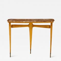 Ico Parisi Ico Parisi Maple Wood and Marble Console Table - 1814081