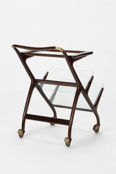 Ico Parisi Ico Parisi bar cart serving trolley 50s - 1692275
