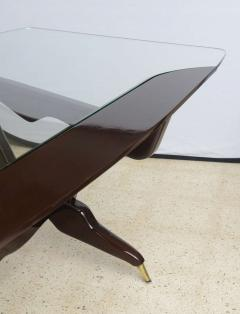 Ico Parisi Italian Modern Glass Top Desk - 106349
