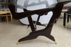 Ico Parisi Italian Modern Glass Top Desk - 106357