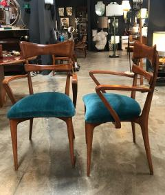 Ico Parisi Italian Pair of Very Rare Ico Parisi Armchairs 1950s - 1133190