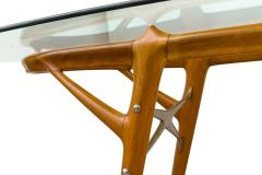 Ico Parisi Italian Walnut and Brass Dining Table Italy style of Ico Parisi circa 1955 - 1534444