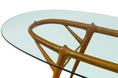 Ico Parisi Italian Walnut and Brass Dining Table Italy style of Ico Parisi circa 1955 - 1534446