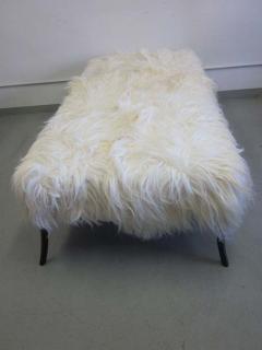 Ico Parisi Large Long Hair Italian Mid Century Modern Style Goatskin Bench Ico Parisi - 1787284