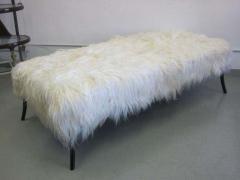 Ico Parisi Large Long Hair Italian Mid Century Modern Style Goatskin Bench Ico Parisi - 1787285
