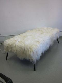Ico Parisi Large Long Hair Italian Mid Century Modern Style Goatskin Bench Ico Parisi - 1787288