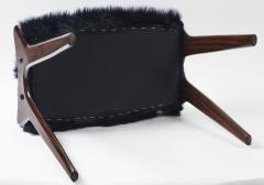 Ico Parisi Pair of Italian Mid Century stools in mahogany Ico Parisi - 1399129